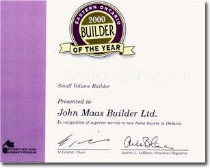 2000 Builder of the Year Award